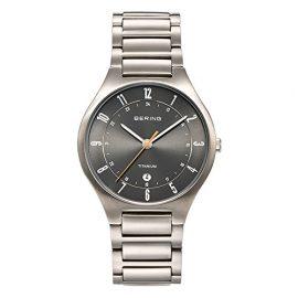 Bering Time  Titanium – Reloj de cuarzo para hombre, con correa de