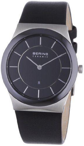 Bering Ceramic - Reloj analógico de caballero de cuarzo con correa de