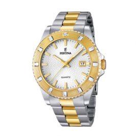 Festina F16688_1 - Reloj Analógico Para Mujer, color Oro