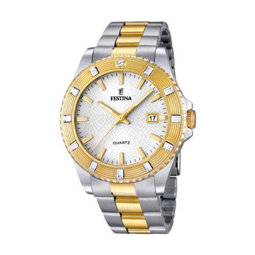 Festina F16688_1 – Reloj Analógico Para Mujer, color Oro