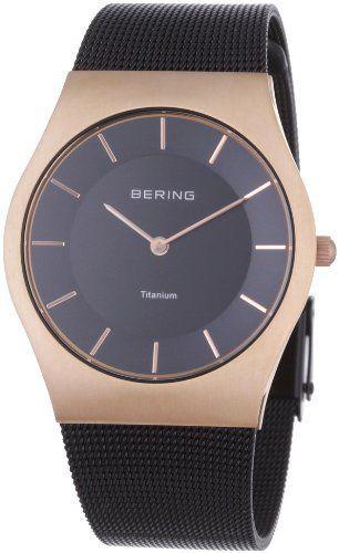 Bering Classic – Reloj analógico de caballero de cuarzo con correa de