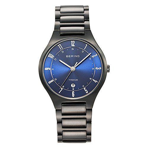 Bering Time  0 – Reloj de cuarzo para hombre, con correa de titanio, Relojes Bering