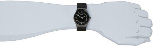 Bering Ceramic – Reloj analógico de caballero de cuarzo con correa de