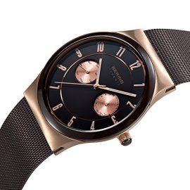 Bering  Ceramic – Reloj de cuarzo para hombre, con correa de acero