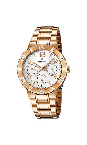University Sports Press  F16709/1 - Reloj de cuarzo para mujer, con