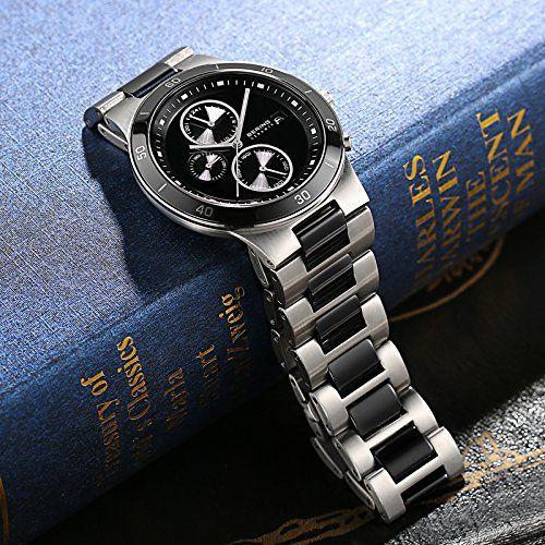 Bering  Ceramic - Reloj de cuarzo para hombre, con correa de acero