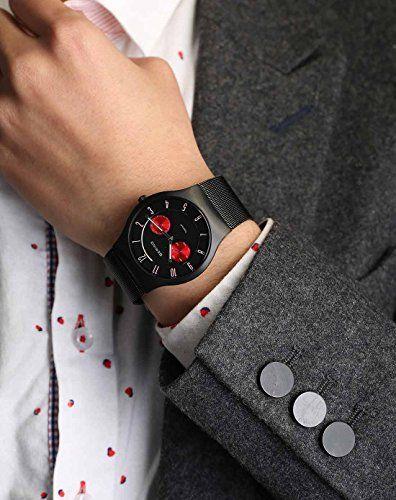 Bering Classic - Reloj analógico de caballero de cuarzo con correa de acero