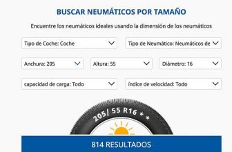 Comparador de precios de neumáticos online