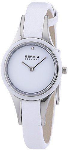 Bering Time  Ceramic - Reloj de cuarzo para mujer, con correa de