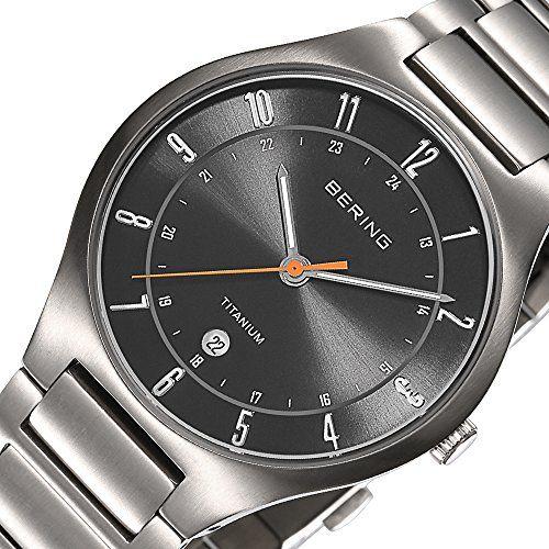 Bering Time  Titanium - Reloj de cuarzo para hombre, con correa de