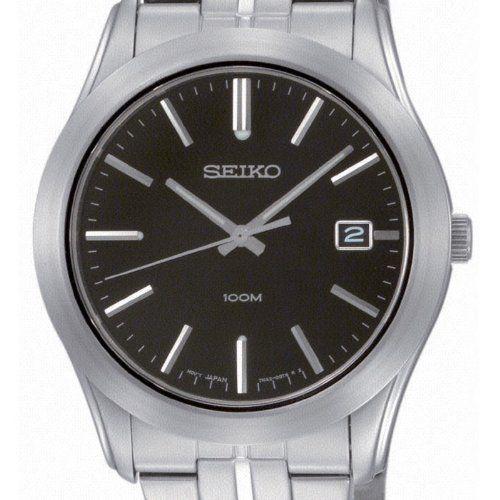 Seiko SGEE43P1 - Reloj analógico de caballero de cuarzo con correa de