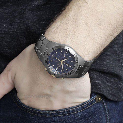 Seiko SND449P1 - Reloj cronógrafo de caballero de cuarzo con correa