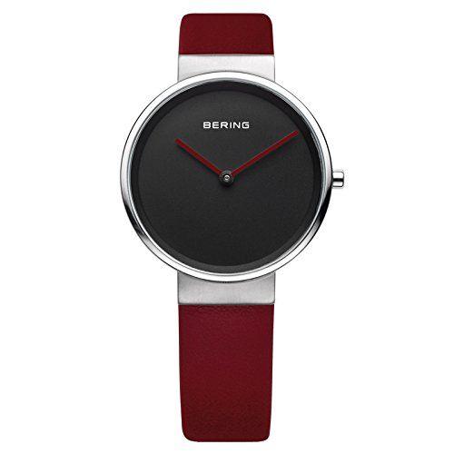 Bering Time  – Reloj Analógico de Cuarzo para Mujer, correa de Cuero