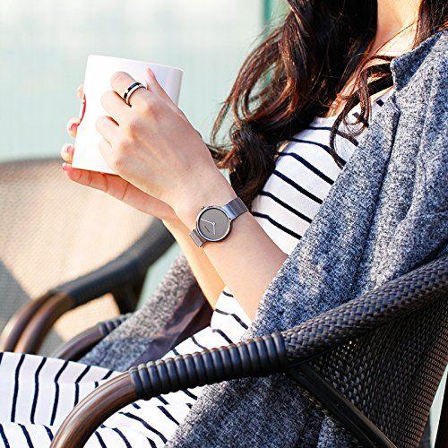 Bering Time  - Reloj Analógico de Cuarzo para Mujer, correa de Acero