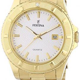 Festina F16682_1 - Reloj Analógico Para Mujer, color Blanco/Oro