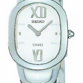 Seiko Vivace - Reloj analógico de mujer de cuarzo con correa de acero