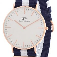 Daniel Wellington Reloj Classic Glasgow OTAN correa de azul y blanco Relojes Daniel Wellington
