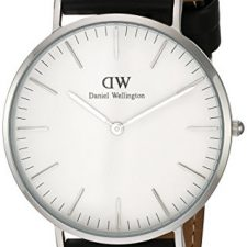 Daniel Wellington Reloj de cuarzo con negro Esfera Analógica de Relojes Daniel Wellington