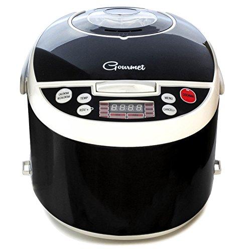 Robot de cocina con 850W, capacidad de 5 l y14 funciones. Programable 24h, guiado por voz y con recetario y múltiples accesorios. Gourmet 5000 de Ollas GM.