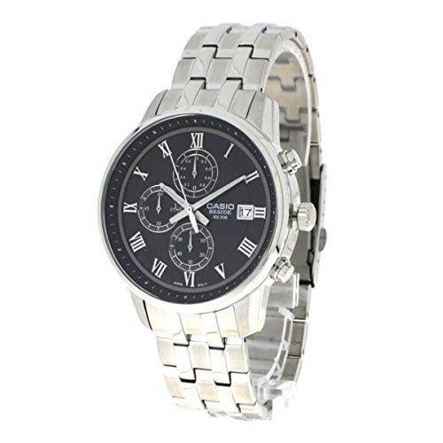 Casio BEM-511D-1 - Reloj Analógico Para Hombre, color Negro/Plata