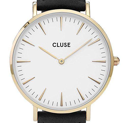 Cluse Reloj Analógico Automático para Mujer con Correa de Cuero – CL18406