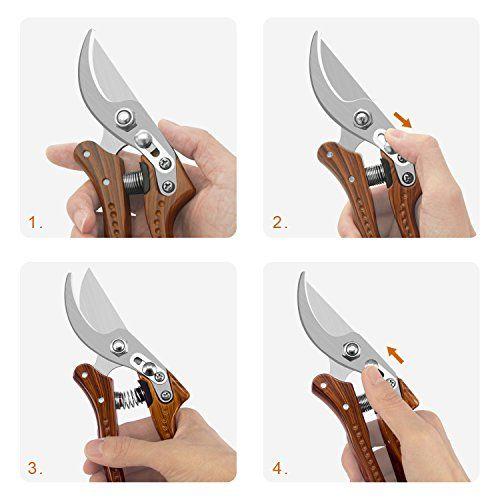 Tijeras Podar, JEOutdoors corte 20cm herramientas de jardinería acero
