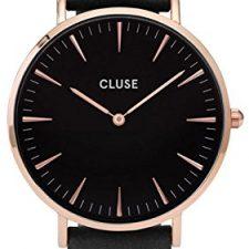 Cluse Reloj Analógico de Cuarzo para Mujer con Correa de Cuero – CL18001 Relojes Cluse