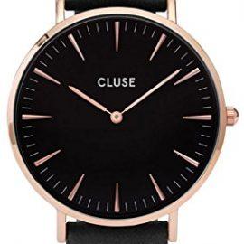 Cluse Reloj Analógico de Cuarzo para Mujer con Correa de Cuero – CL18001