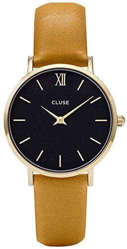 Cluse Reloj Digital de Cuarzo Unisex con Correa de Cuero – CL30035