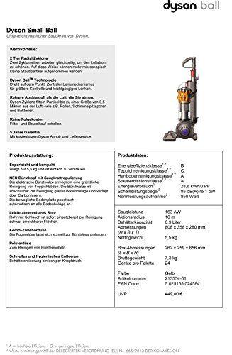 Dyson Small Ball Multifloor – Aspiradora sin bolsa vertical, 900 W de