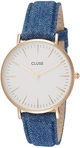 Cluse Reloj Analógico Automático para Mujer con Correa de Cuero – CL18025