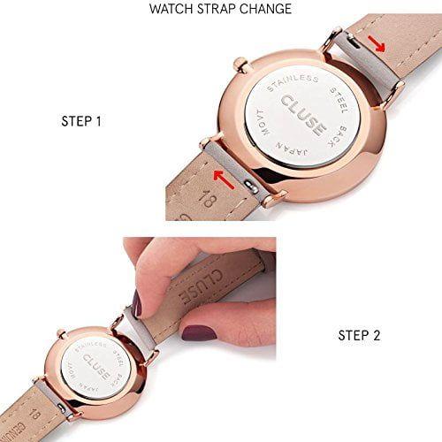 Cluse CL50011 - Reloj de pulsera para Mujer La Vendette, Oro/Rosa