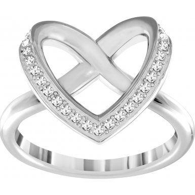 Swarovski señorías-anillo rhodiniert cristal transparente – 5119 Joyería y Bisutería