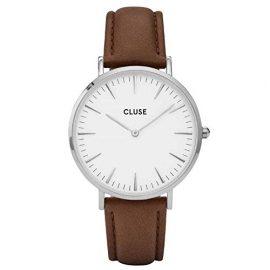 Cluse Reloj Analógico Automático para Mujer con Correa de Cuero – CL18210