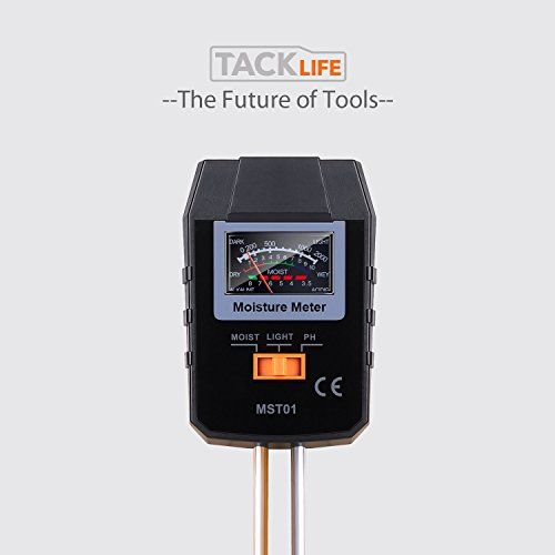 Medidor de Suelo, Tacklife MST01 3 en 1 Probador de Suelo: Medidor de