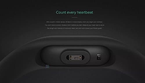 Xiaomi Band 2 Fitness Smartband, Pulsera de actividad, con monitor de ritmo cardíaco, color Negro