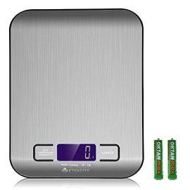 Etekcity EK6015 Báscula Digital para Cocina de Acero Inoxidable, 5kg / 11 lbs, Balanza de Alimentos Multifuncional, Peso de