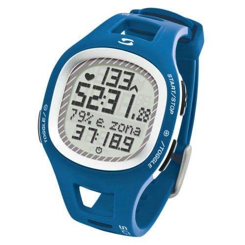 Sigma 21012 - Reloj pulsómetro, incluye banda torácica, señal analógica, color azul