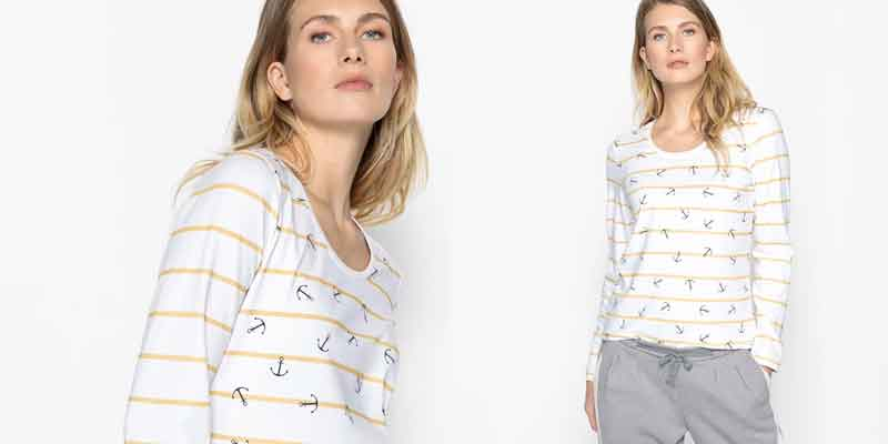 Camiseta estampada 100% algodón peinado