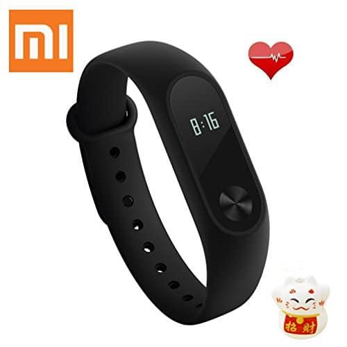 Xiaomi Band 2 Fitness Smartband, Pulsera de actividad, con monitor de ritmo cardíaco, color Negro Pulseras de Fitness
