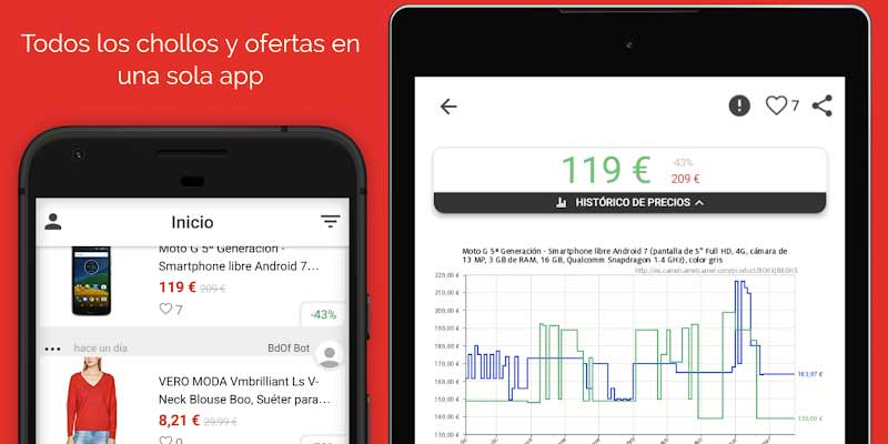 Chollos en tu móvil - Una app para ahorrar y comprar más barato