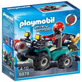 Playmobil Policía – Ladrón con Quad y botín (6879)