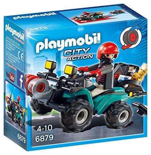 Playmobil Policía – Ladrón con Quad y botín Ofertas en Playmobil