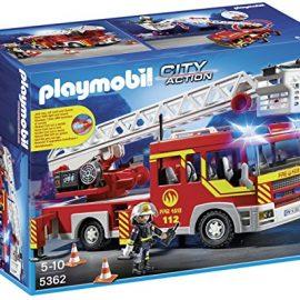Playmobil Bomberos - Camión y Escalera con Luces y Sonido,