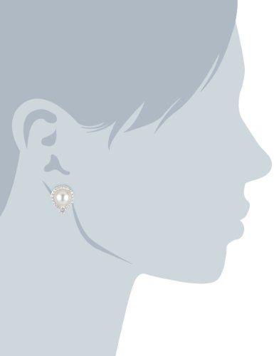 Diamonfire Pearls - Pendientes de plata de ley con circonita