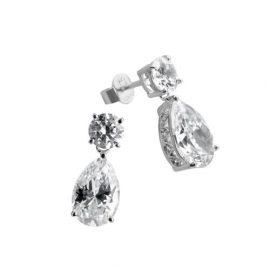 Diamonfire Bridal Linie – Pendientes colgantes de plata de