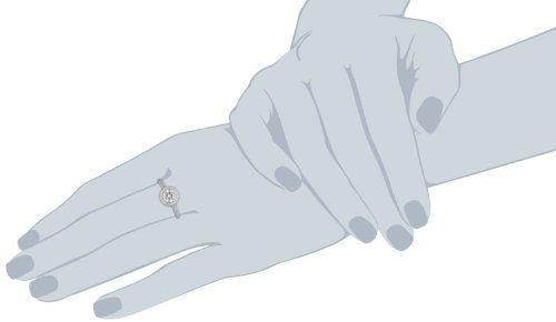 Diamonfire Signatures - Anillo de plata 925, talla 12