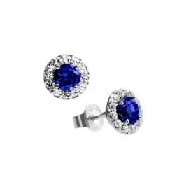 Diamonfire Royal Colours Linie - Pendientes de botón de