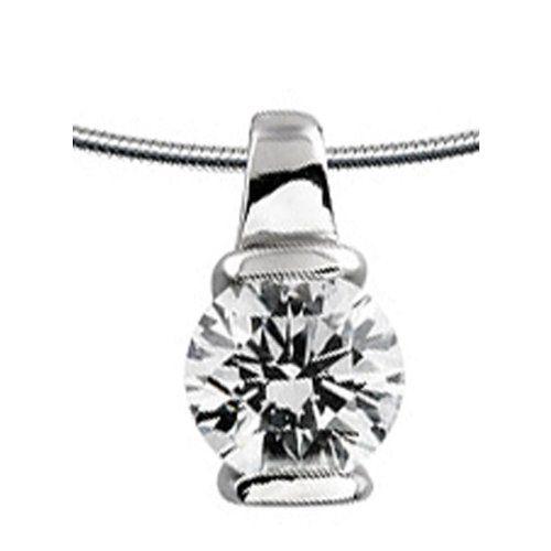 Diamonfire Carats - Colgante de plata de ley con circonita
