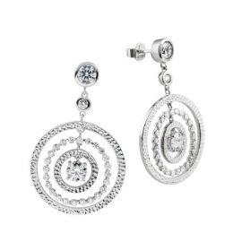 Diamonfire Cocktail - Pendientes de plata de ley con